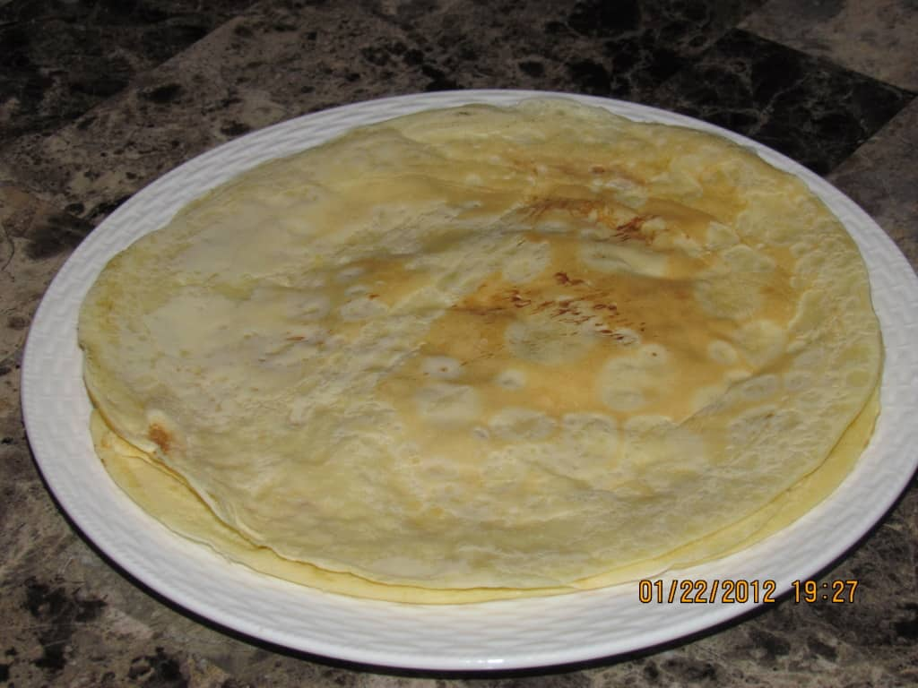 Basic batter crepe recipe