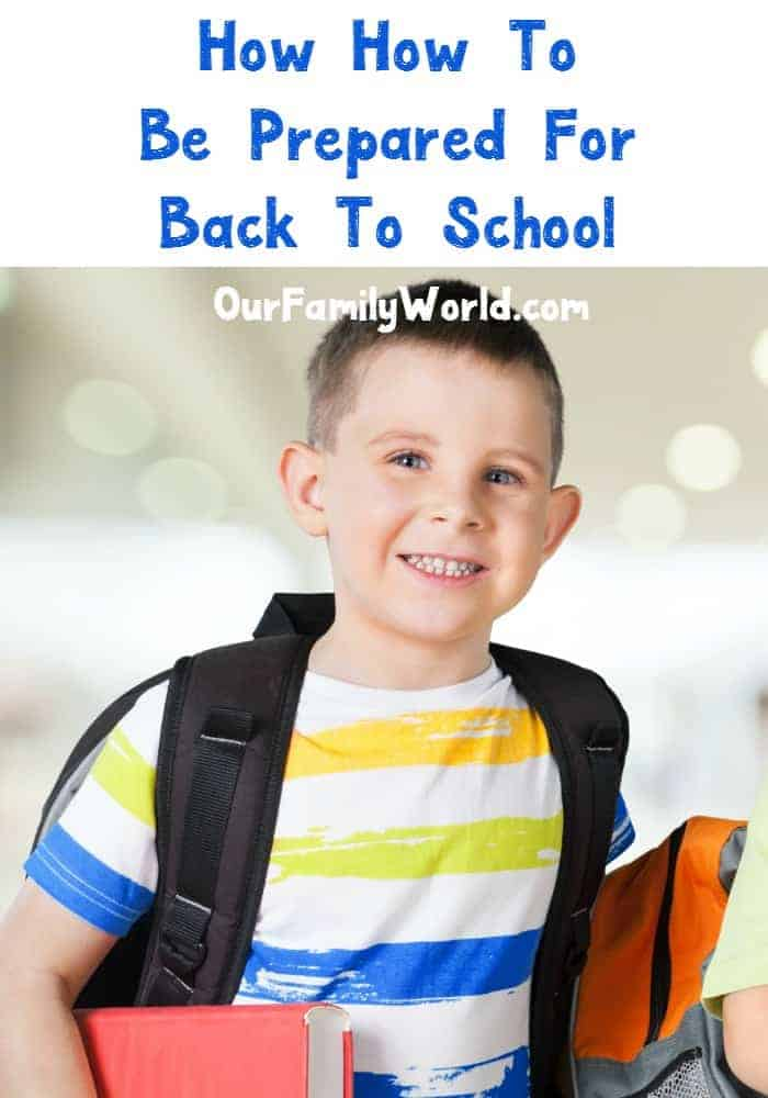 Get your back to school organization ready! It's time to pack the lunches, pick out the outfits and gather the supplies. Check out our ideas to keep yourself prepared.