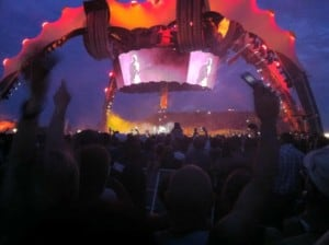 U2 360 Tour structure at night