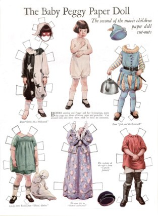 Baby Peggy Paper Doll by Frances Tipton Hunter