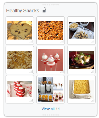 Healthy Snacks clipboard