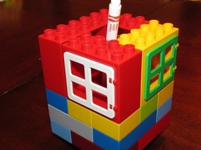 Container box with LegoDuplo