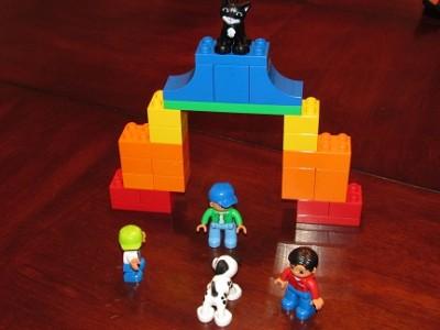 Rainbow Bridge with Lego Duplo