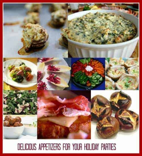 Delicious Appetizers for Your Holiday Parties