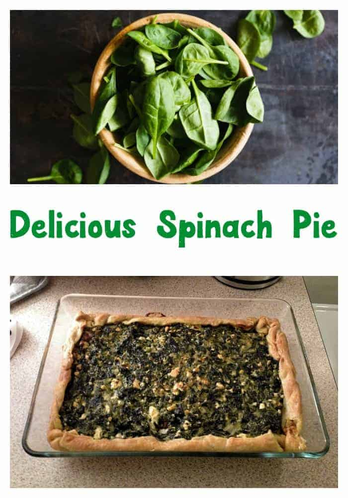 Looking for an easy dinner recipe? Make this delicious spinach pie. It is healthy and your picky eaters will love it