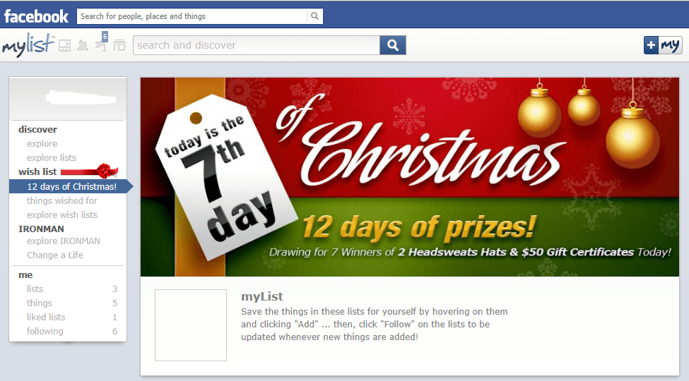 MyList 12 Days of Christmas Sweepstakes