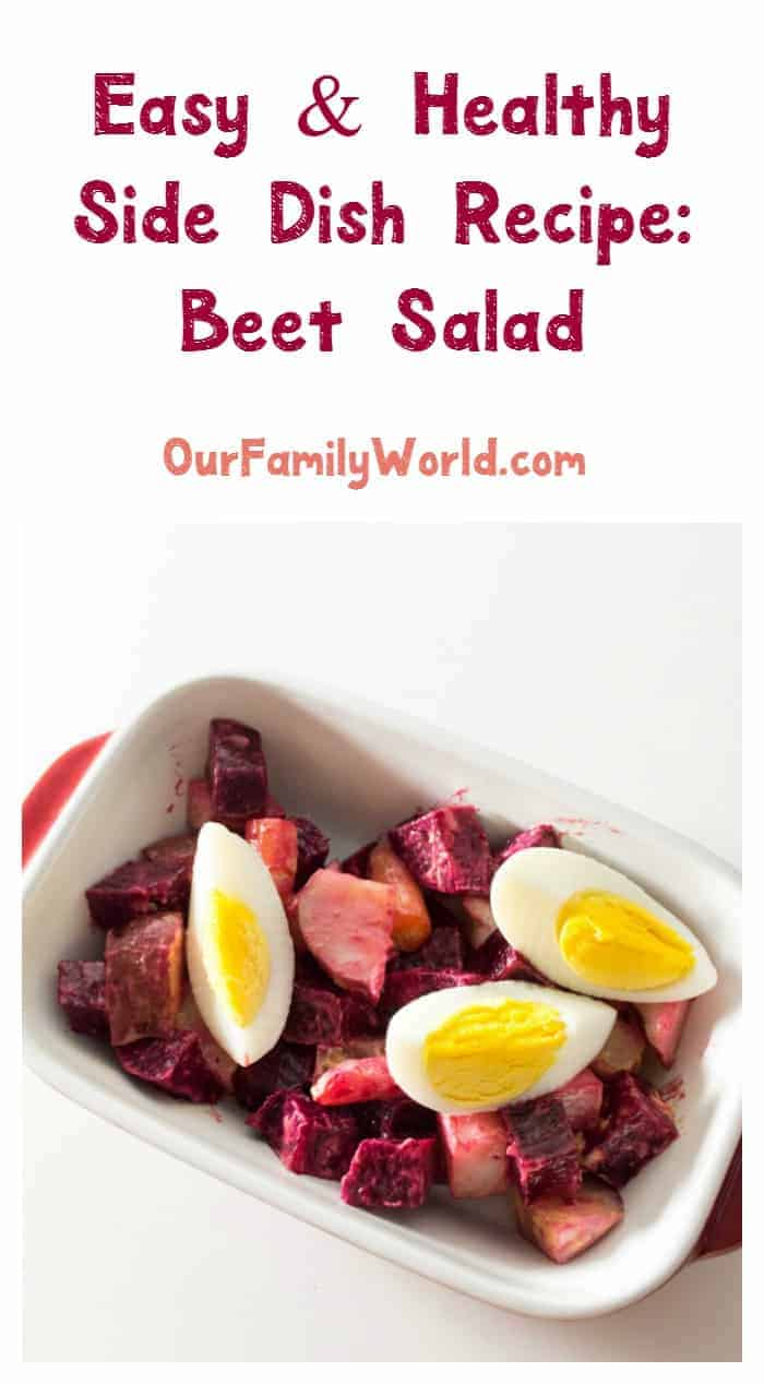 Create healthy and festive holiday side dishes by incorporating Christmas salads, like this beet salad, into your menu.