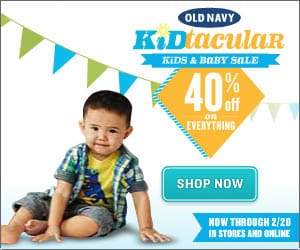 Shop Stylish Kids Fashions and Save 40% During the Old Navy Kids & Baby Sale