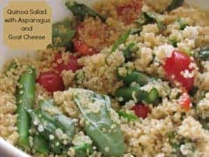 Quinoa Salad with Asparagus and Goat Cheese