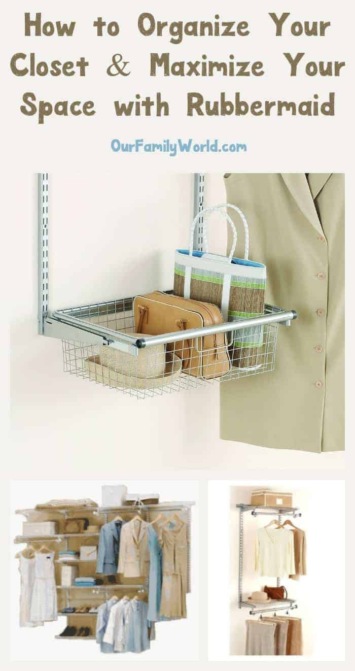 Organize your closet with the Rubbermaid Max Add-On Organizer and you can save both time and money! No more searching for clothes or wasting valuable space!