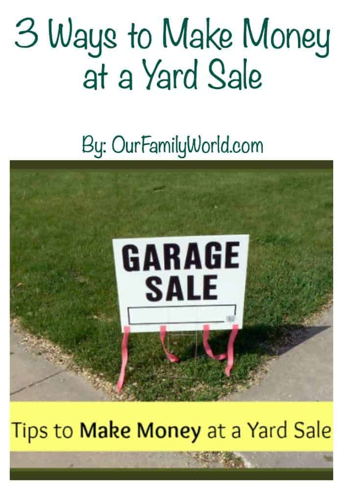 3 Ways to Make Money at a Yard Sale: When I was a child, my mom and I would spend our Saturday mornings going to yard sales. We would often talk about having one of our own yard sales, but never got around to it. Now that I am an adult with a family of my own, I have one annually, not only to get some extra cash, but because I really don't like clutter. Over the years I have learned a few things about yard sales and the different ways to make money by getting rid of our unwanted stuff.