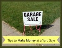 Ways to Make Money at a Yard Sale