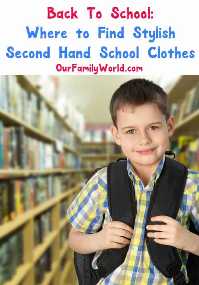 Back to school outfits are fun to put together, but can be pricey! Check out our thrifty ideas of where to find cute second hand clothes for elementry school students, middle schoolers, high school students and everything in between!