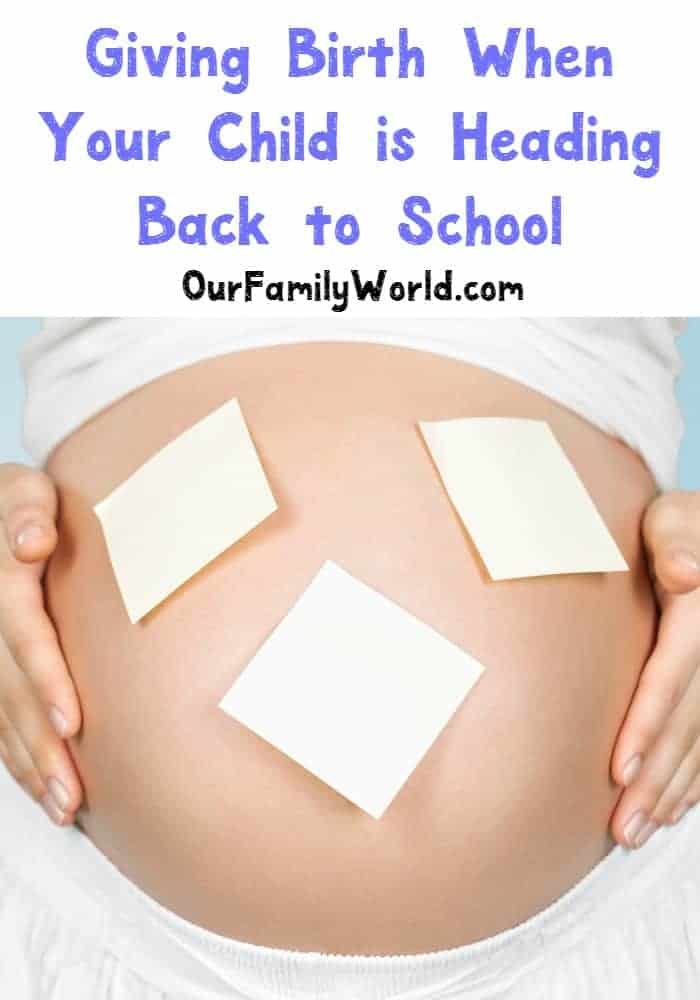 Giving birth when other your child is heading back to school can be stressful! See our organization ideas for the most important parts. I've got my checklist ready!