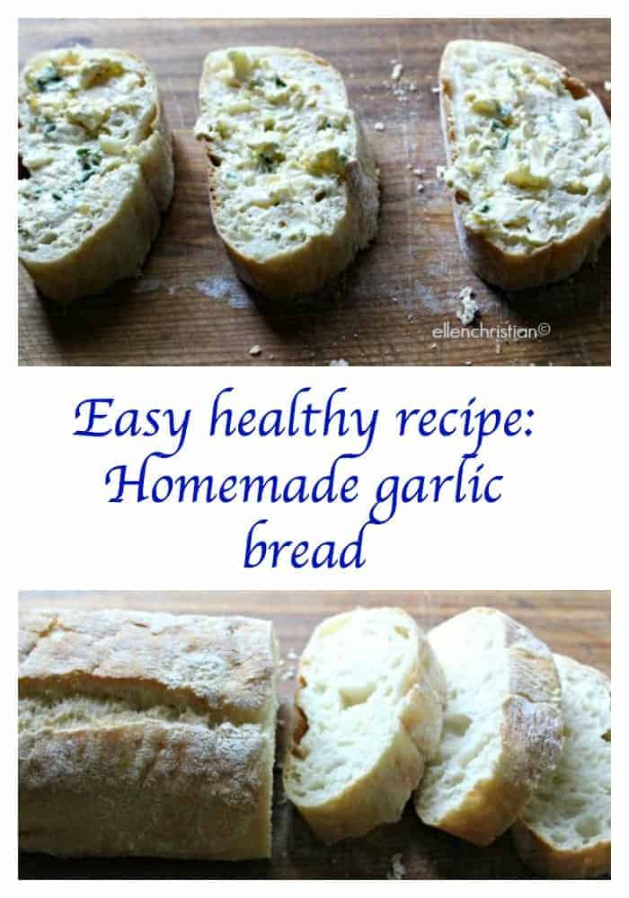 Take a look at how to make homemade garlic bread. It's the perfect easy healthy recipe to go along with your favorite entree, like our Eggplant in the Oven!