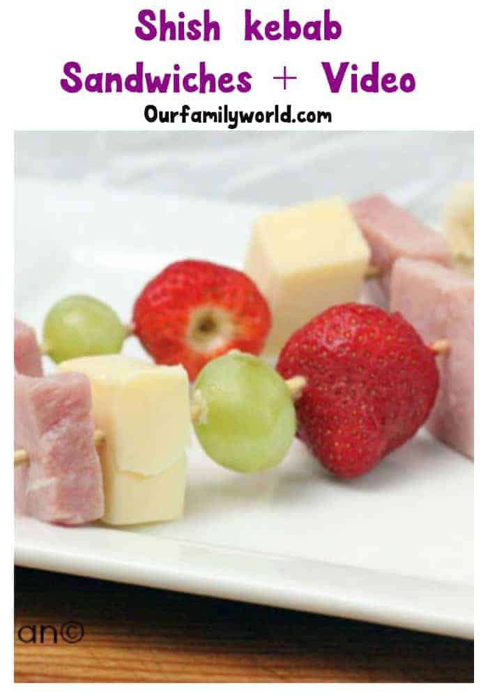 Looking for lunch recipes for kids? Try these fun and easy shish kebab sandwiches for lunch.