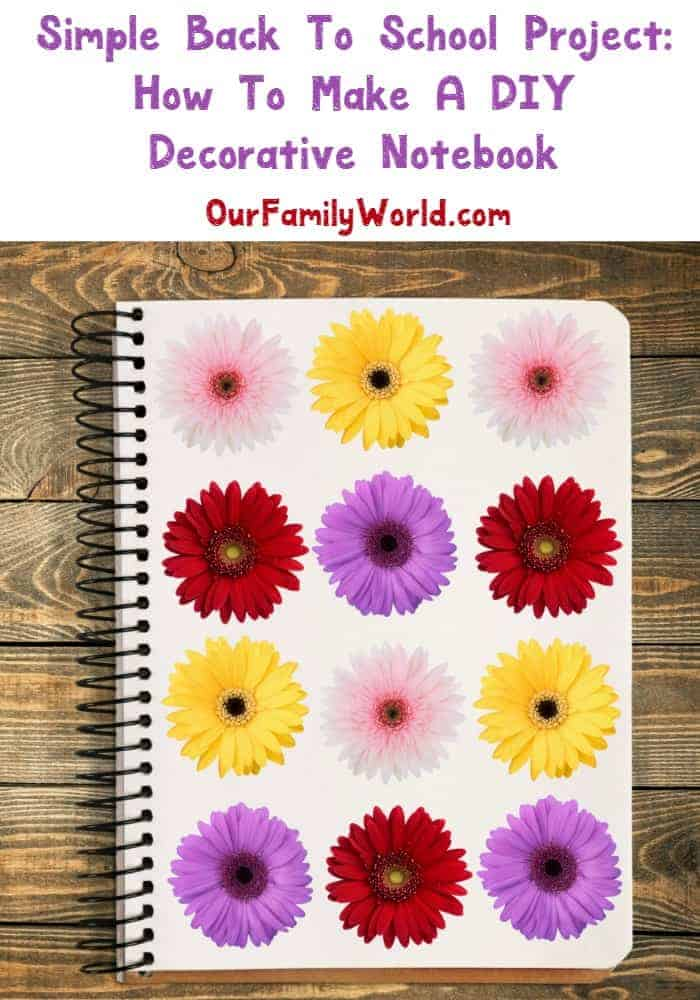 Back to school craft how to make a decorative notebook for Back to school notebook decoration ideas