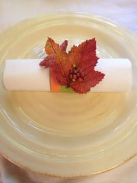 Fall Craft DIY Napkin Rings