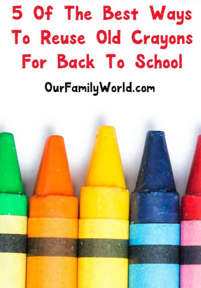 It's time to get my organization on for back to school and that means gathering all the supplies. Check out my DIY ideas for upcycling all of those old leftover crayons as you make room for the new school supplies.