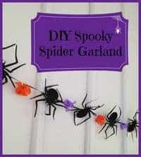 Frugal Halloween Decor: Spooky Spider Banner