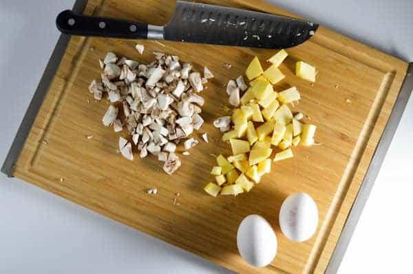 easy dinner recipe summer squash omelette