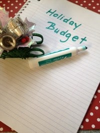 Save Money Holiday Budget
