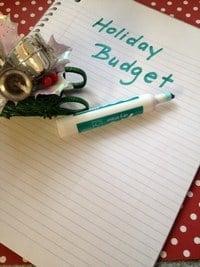Save Money Holiday Budget
