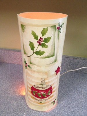 Frugal Holiday Decor Lantern