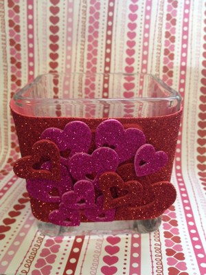 Valentines Day Decor candle holder