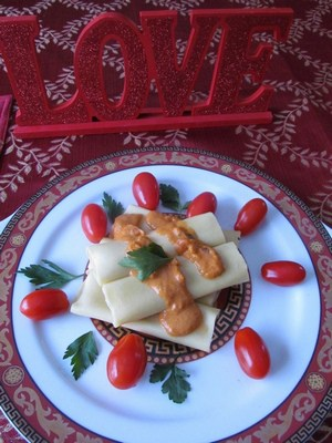Valentines day recipe Olivieri Manicotti #recipes4Romance