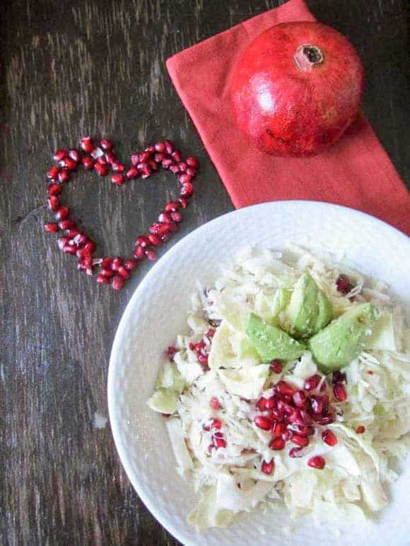 Pomegranate, Avocado & Cabbage salad