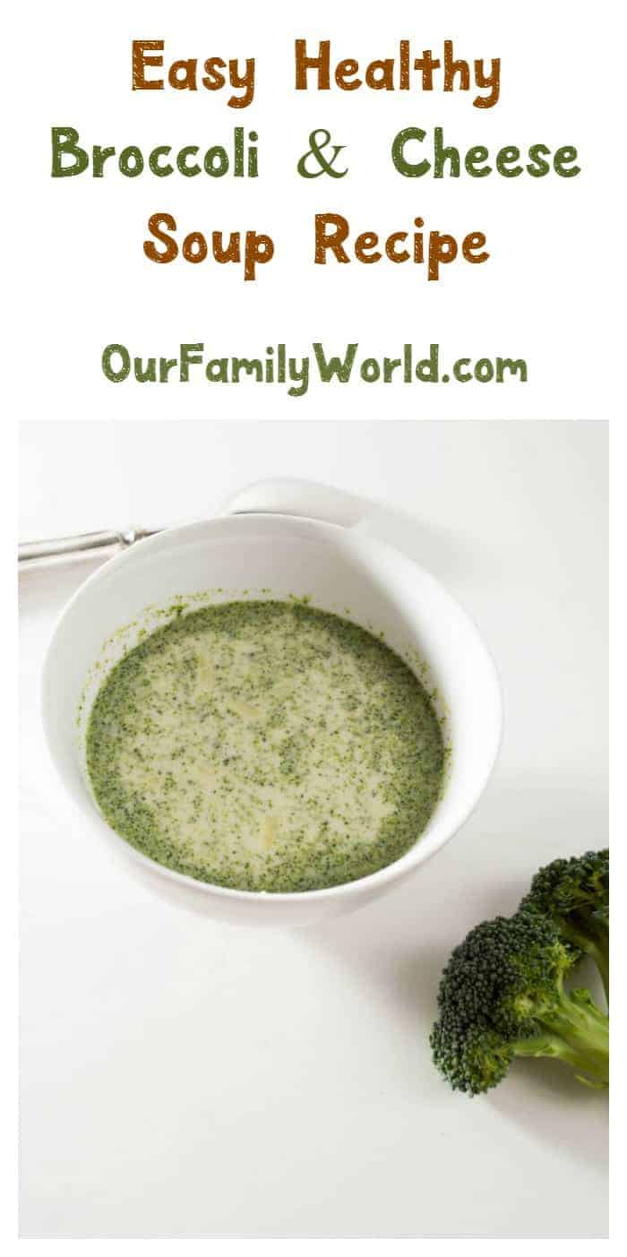 Looking for an easy healthy vegetarian dinner recipe? Warm up with our broccoli cheese soup!