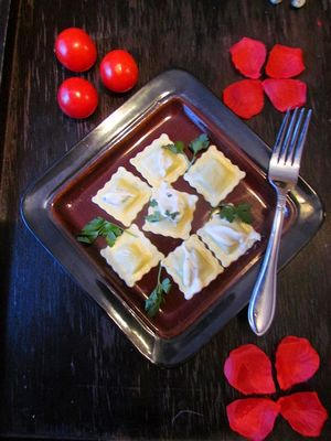 Valentines day recipe Olivieri spinach ravioli #recipes4romance