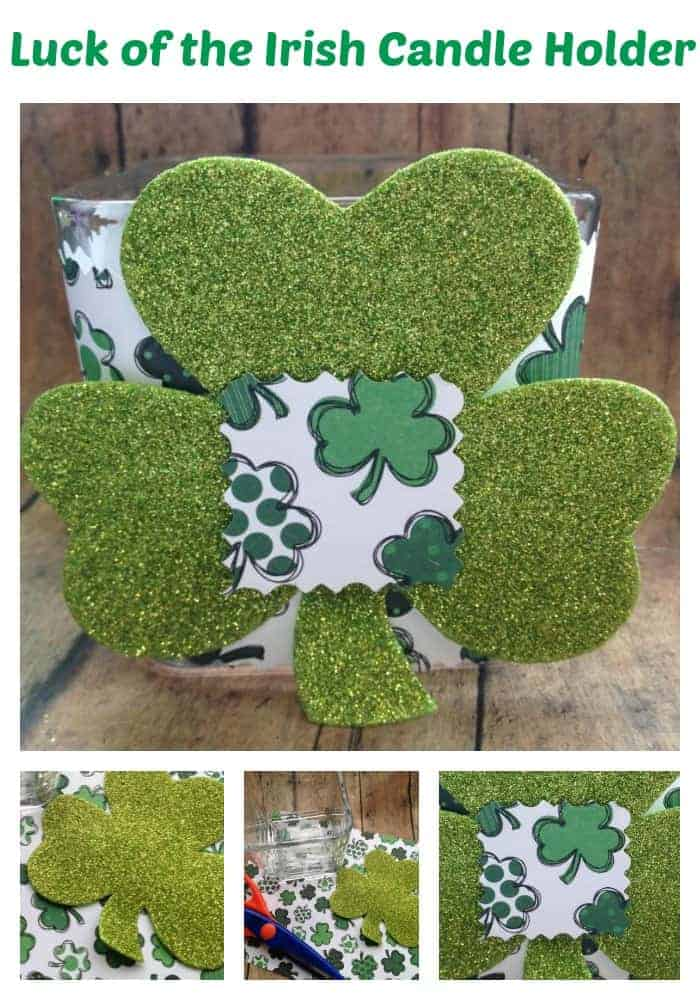 Thrifty St. Patrick's Day Craft: Luck of the Irish Candle Holder