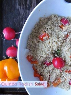 quinoa salad recipe with radish