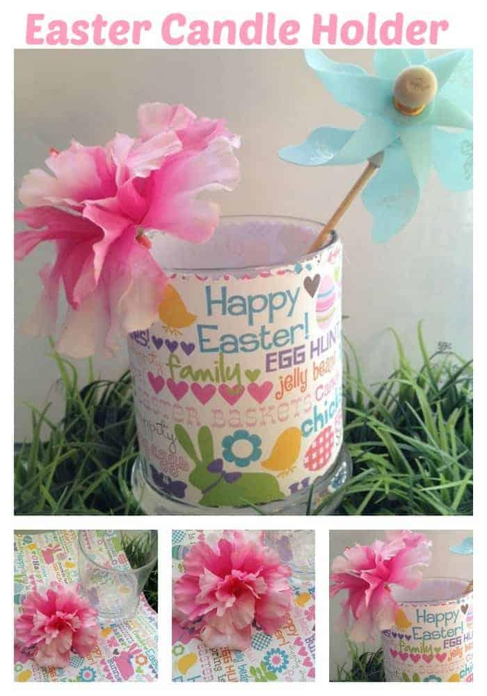 Easter craft for kids Easter candle holder