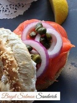 Bagel Recipe: Salmon Sandwich Lunch Recipe