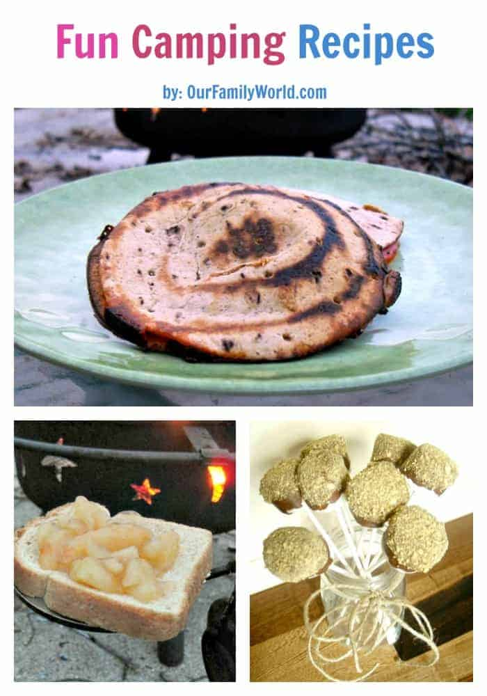 Enjoy these 3 fun recipes for camping from S'mores Pops to pizza pocket and Hobo Pies. Fun to prepare and delicious to eat