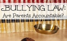 Bullying Law Are Parents Accountable