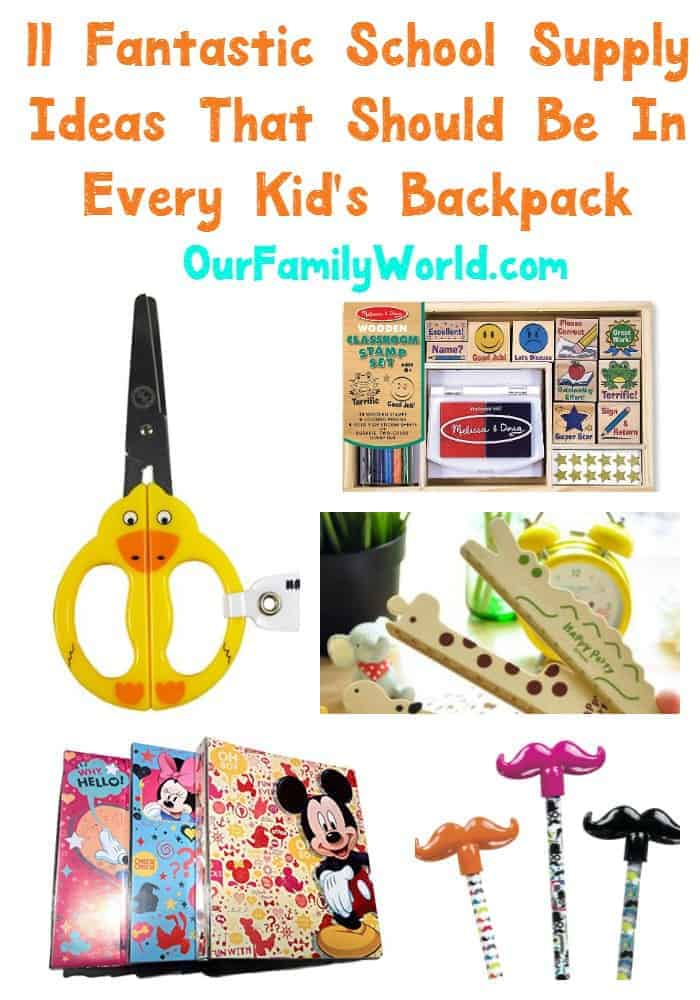 Get your kid organized for back to school with school supplies that are adorable and quick. You are going to love these ideas!