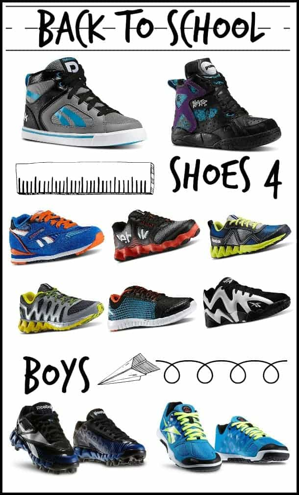 Back to school shoes for boys