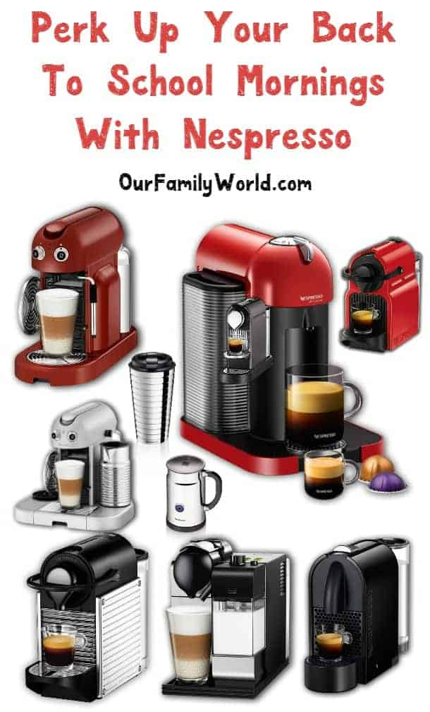 Get your back to school morning routine moving again with a Nespresso coffee maker. I can pack lunches and organzie the school supplies after my coffee.