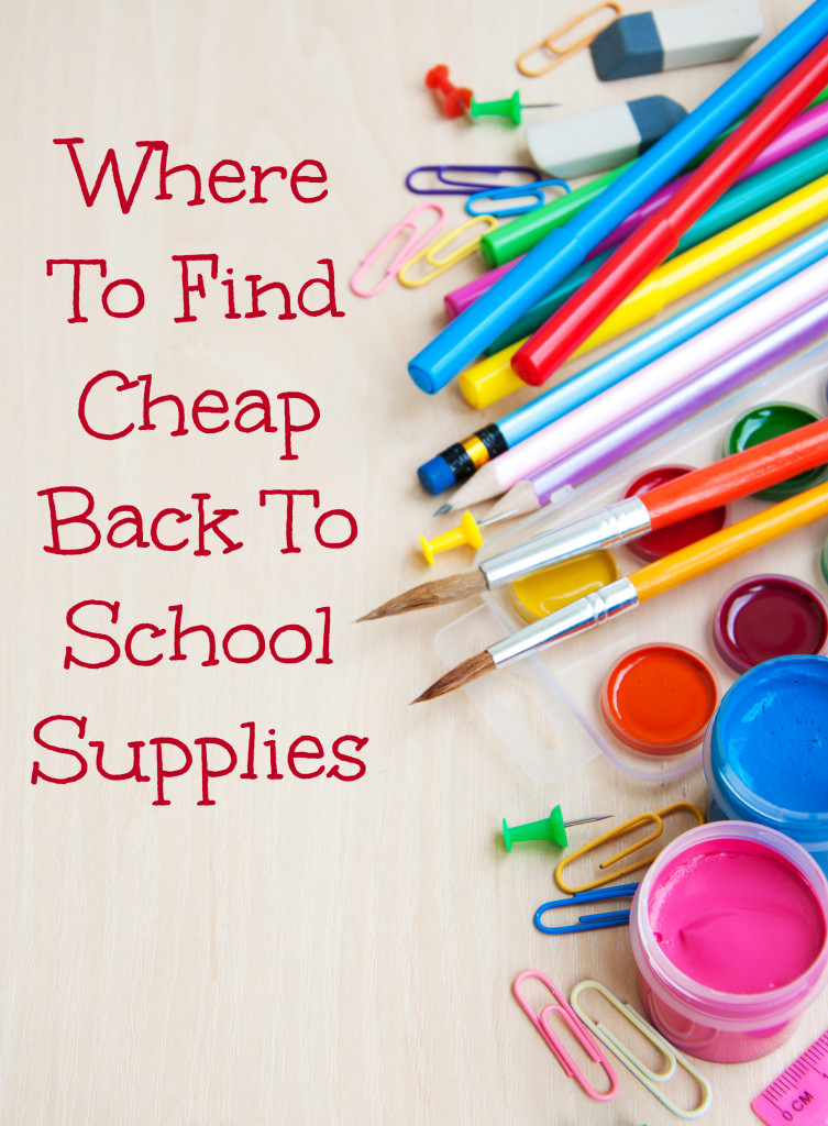 Cheapest place to get school supplies