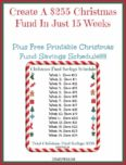 Christmas Fund Printable