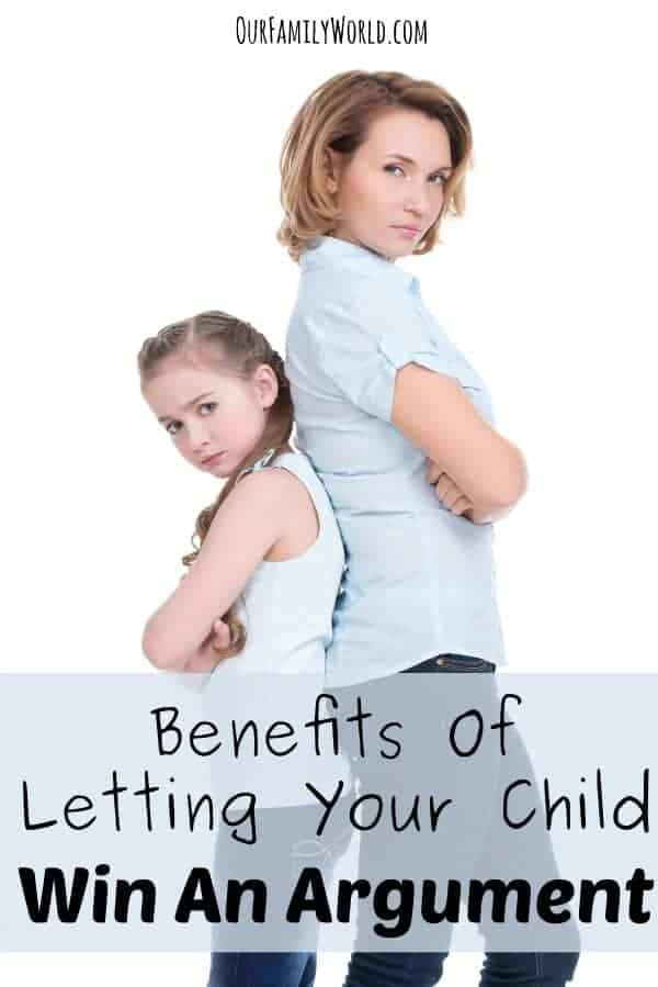 Benefits Of Letting Your Child Win An Argument