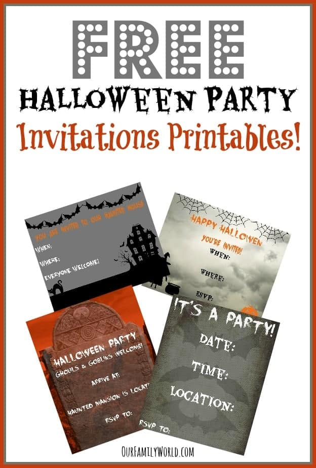 This is a graphic of Divine Free Halloween Invites Printable