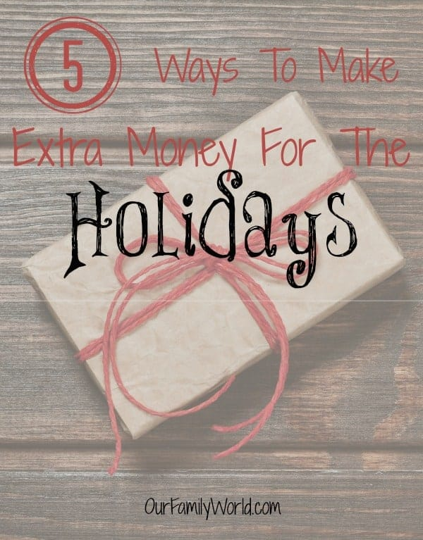 As we head into the holiday season it is time to start considering how we will pay for gifts for our friends, family and even ourselves. Here are 5 Ways to Make Extra Money for the Holidays that are sure to be easy for you to do