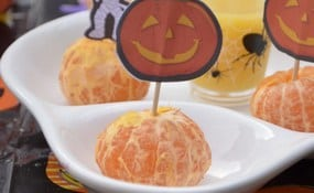 Orange Brains: Funny & Healthy Halloween Treat For Kids