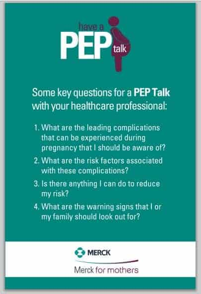 Have a PEP Talk to Prevent Pregnancy Complications