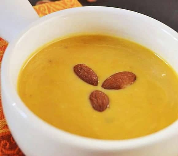 Healthy Soup Recipe: Roasted Pumpkin Soup with Almonds